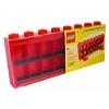 Lego – 106 – Accessoire Jeu de Construction – Vitrine Figurines 16 Cases – Rouge – Décoration
