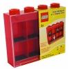 Lego – L005FRA-2 – Accessoire Jeu de Construction – Vitrine Figurines 8 Cases – Rouge – Décoration