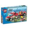 Lego – City – jeu de construction – Le 4*4 des pompiers et sa remorque