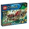 Lego Legends Of Chima – Playthèmes – 70006 – Jeu de Construction – Le Croc Navire Cragger