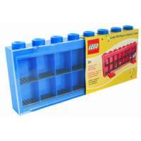 Lego – 106 – Accessoire Jeu de Construction – Vitrine Figurines 16 Cases – Bleu – Décoration
