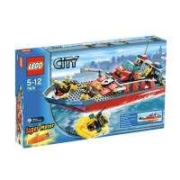 Lego – 7906 – City – Jeu de construction – Le Bateau des Pompiers