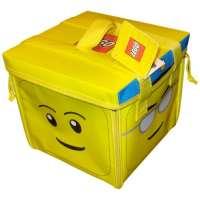 Lego – A1354XX – Accessoire Jeu de Construction – Zipbin Tete LEGO – Sac de rangement et tapis de jeu