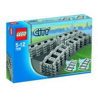 Lego – City – jeu de construction –  Rails droits et courbes