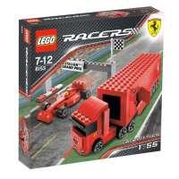 Lego – 8153 – Racers – Jeux de construction – Le mini- camion de l'écurie F1 Ferrari