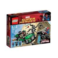 Lego Super Heroes – Marvel – 76004 – Jeu de Construction – La Poursuite en Moto-Araignée – Spider-Man
